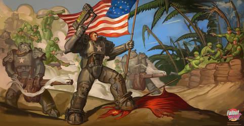 Battle composition for Fallout: Miami