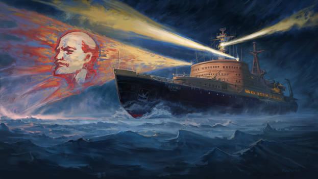 The world's first nuclear-powered icebreaker Lenin
