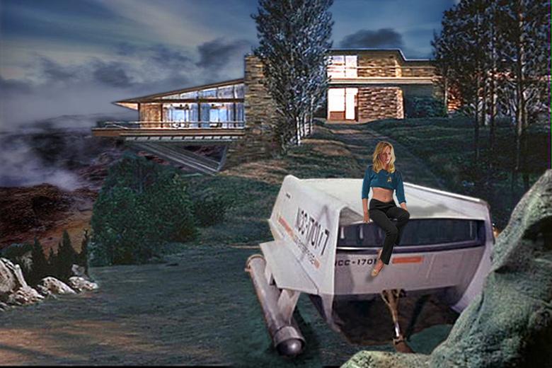 star trek shuttlecraft and vandamm house by scotpens on. Black Bedroom Furniture Sets. Home Design Ideas