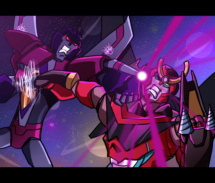 Starscream VS Gurren Lagann by Dustoff-EX