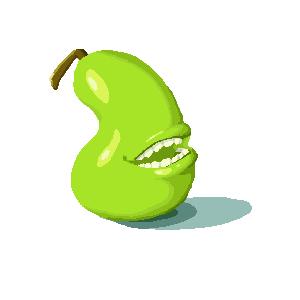 Biting Pear by teragram98