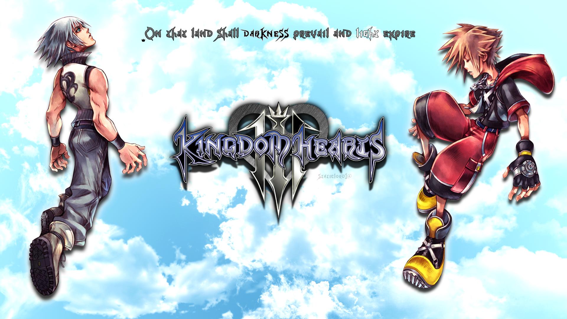 Kingdom Hearts 3 Sora Riku Wallpaper By Static989 On Deviantart