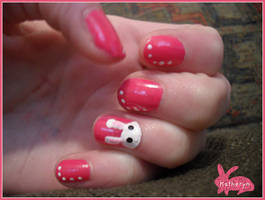 Easter Bunny Nail Art by animalscrosshere