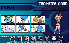 My trainer card! by SunnySenshi