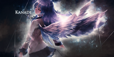 Kanade - Angel Beats Signature by GenosanGFX