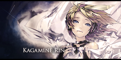 Kagamine Rin - Vocaloid Signature by GenosanGFX