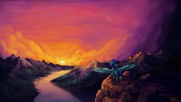 Cliff at Sunrise [Comm]