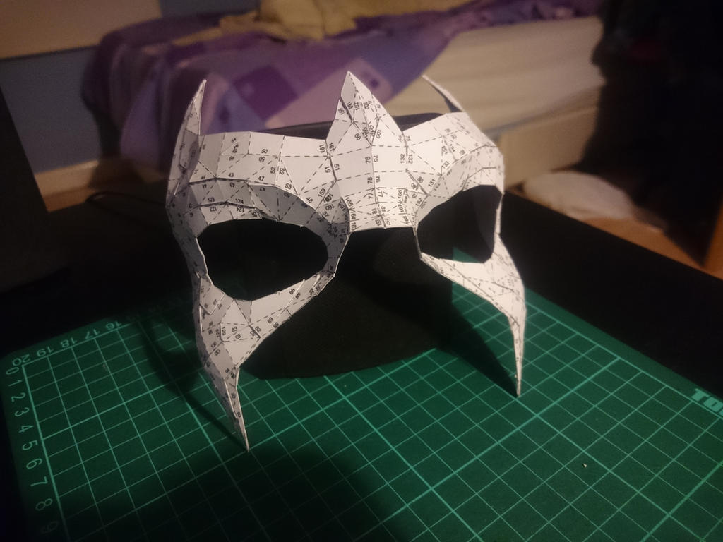 papercraft nightwing mask by th3angryman on deviantart. Black Bedroom Furniture Sets. Home Design Ideas