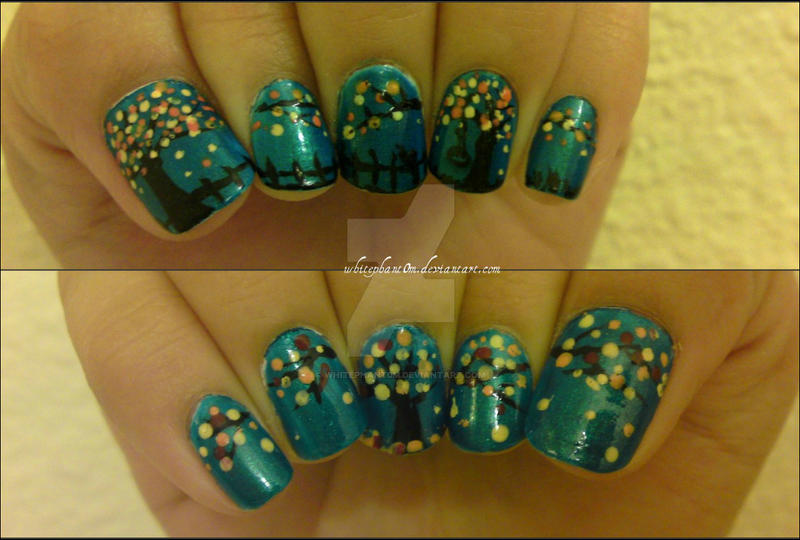 fall nail art by whitephant0m