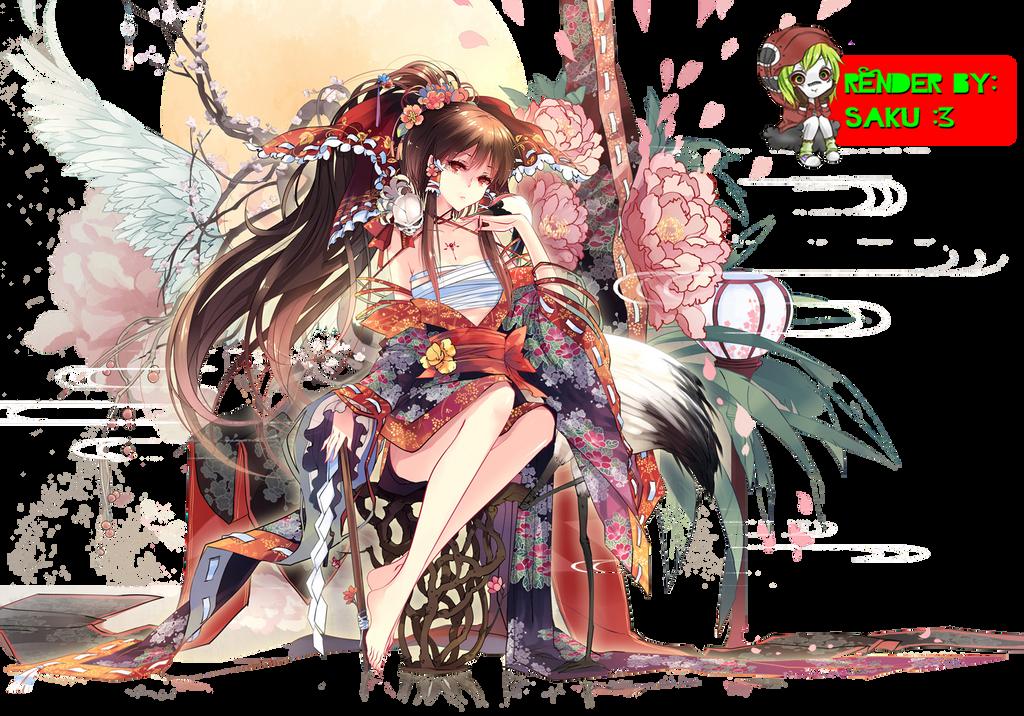 Touhou Render by SakuraCerry