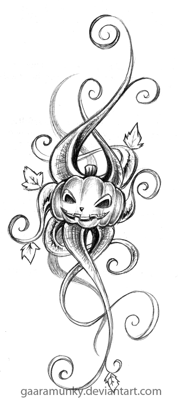 Pumpkin tat by Gaaramunky