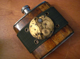Steampunk Hip Flask by dreadnoughtdesigns
