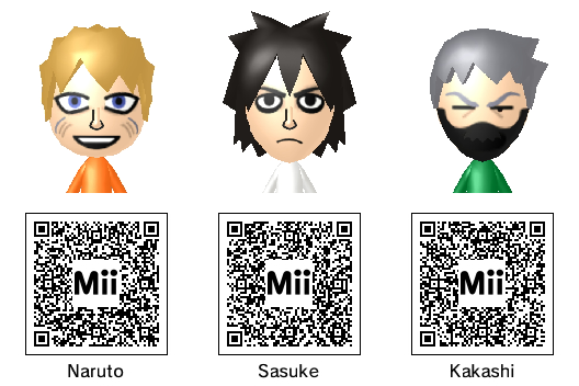 Anime Mii Characters 3ds : Naruto mii collection by thest ng on deviantart