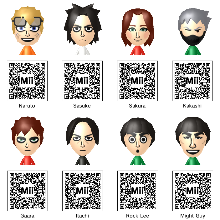 Anime Mii Characters 3ds : Naruto mii collection nd take by thest ng on deviantart