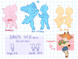 [Dainty] OPEN YCH - A Pair of Pals