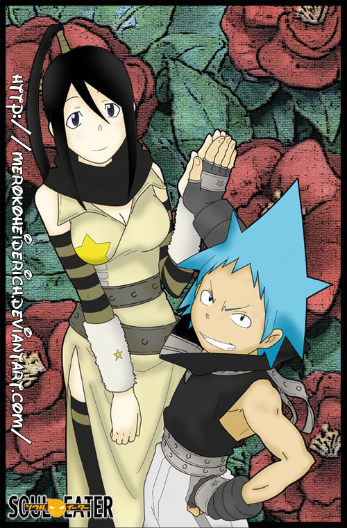 Black Star and Tsubaki by MerokoHeiderich