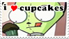 Gir Stamp - i love cupcakes by policegirl01