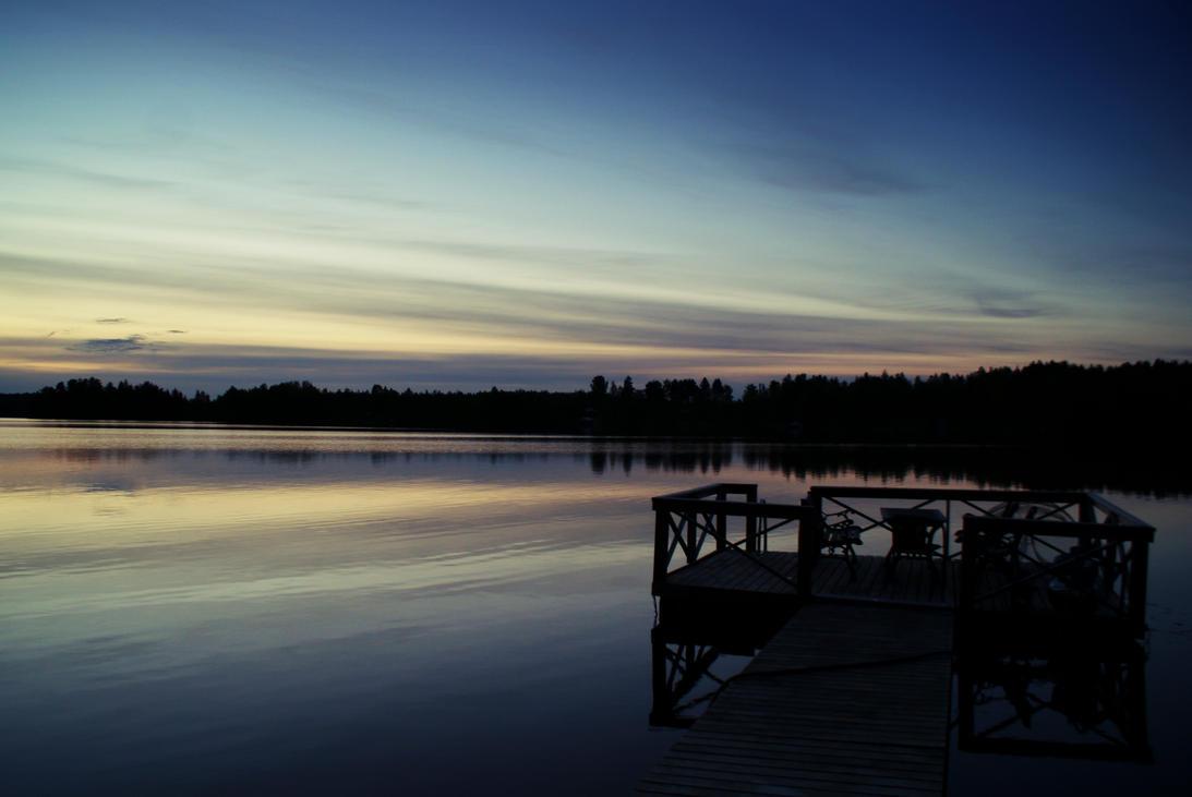 Dusk by the lake by RustKnob