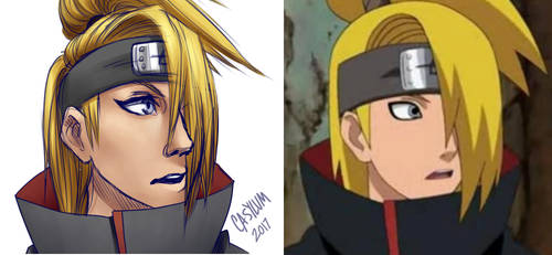 Deidara [Screenshot Redraw] by Casylum