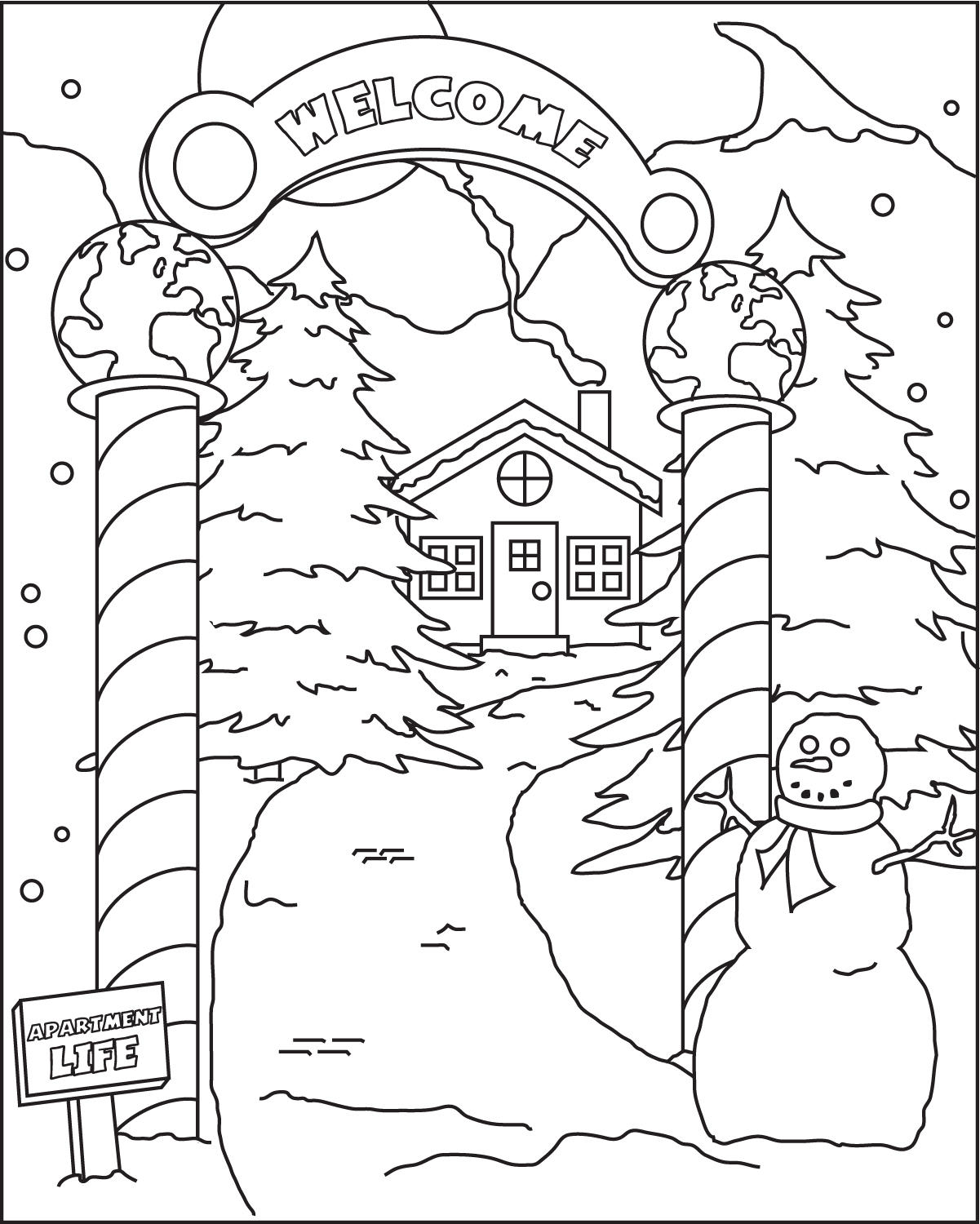 holiday coloring by pyzi holiday coloring by pyzi - Holiday Coloring