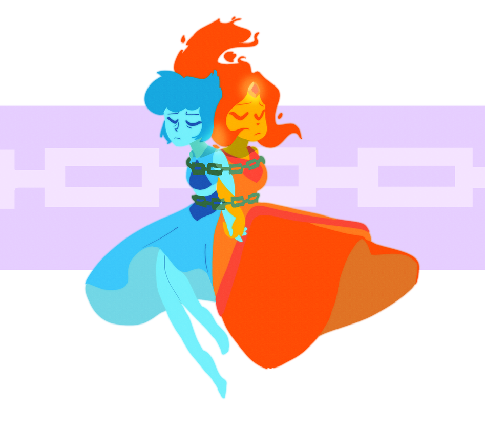 I was watching Adventure Time today when I realized? Flame Princess is pretty similar to Lapis?? Also I can't draw chains and I apologize Feel free to check out more on my Tumblr !