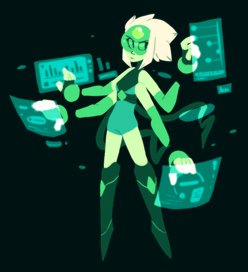 My attempt at a Pearl/Peridot fusion! I feel like it doesnt look enough like either of them buuut I'm otherwise happy with it Feel free to check out more on my Tumblr !