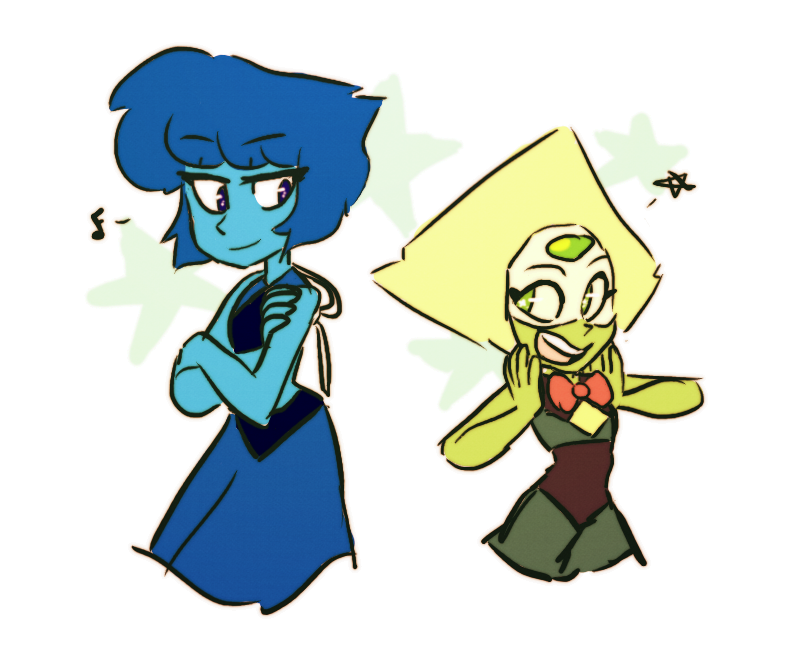 I LOVE THESE TWO THEY STOLE MY HEART And man I missed drawing Peridot so much Tumblr