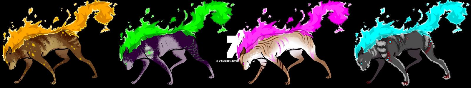 Flarecat Adopts Batch 1 (2/4 OPEN) by vansiren