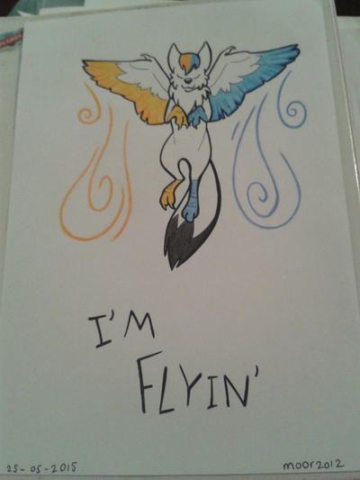 I'm flyin' by moor2012