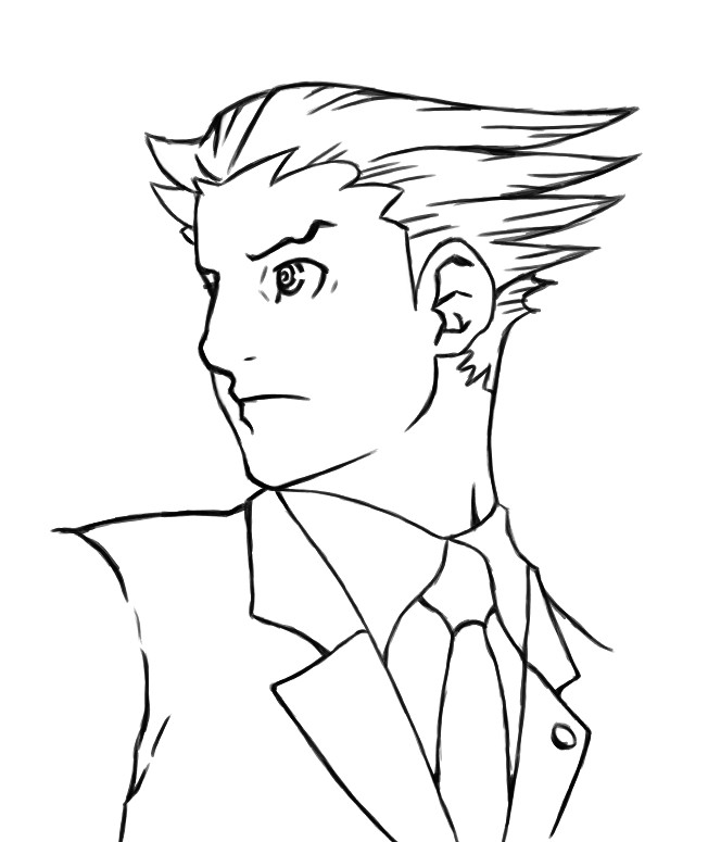 Phoenix Wright Coloring Page by HowToDrawManga3D on DeviantArt