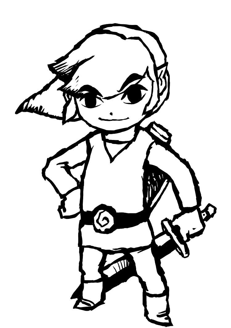 Fun on Pinterest Zelda Coloring