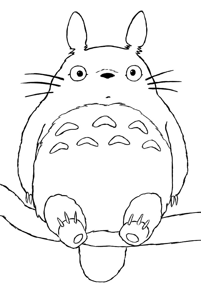 Totoro Coloring Page By Howtodrawmanga3d On Deviantart