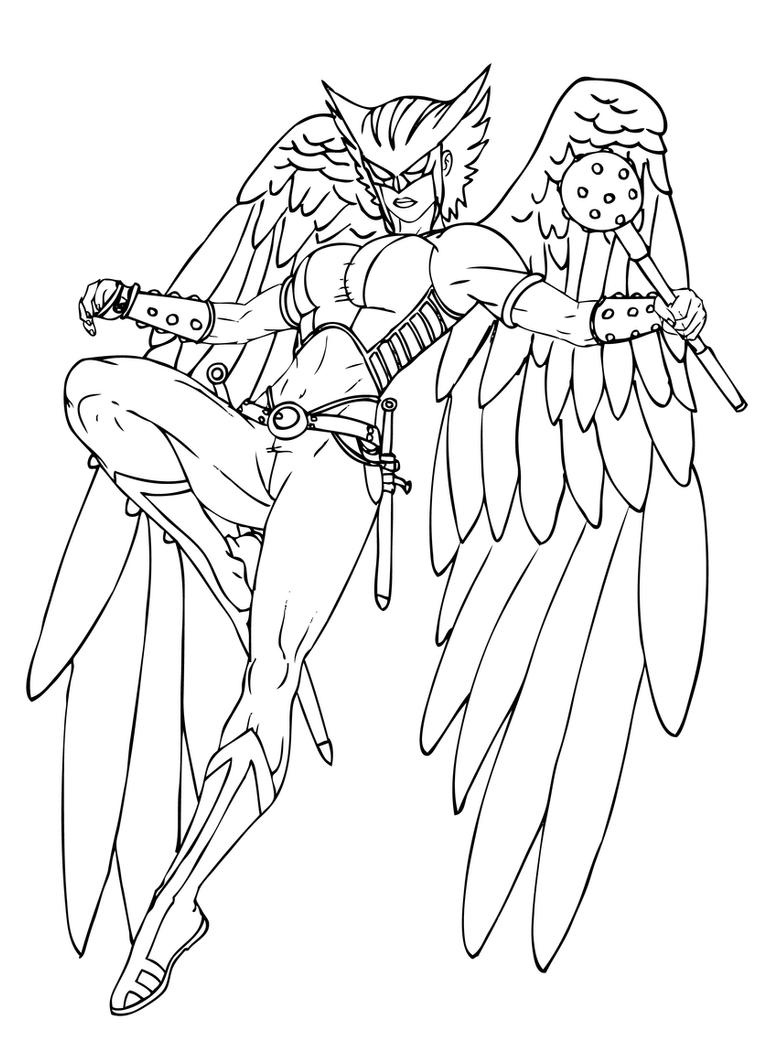 Justice League Goodbye Hawk Girl Coloring Pages