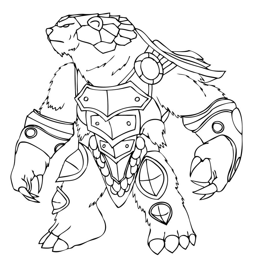 League Of Legends Volibear Sketch Coloring Page
