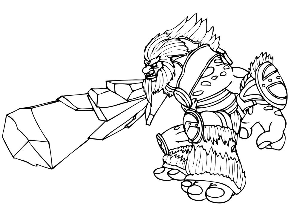 league of legends rumble coloring pages | League of Legends Champion - Trundle by gonzagator on ...