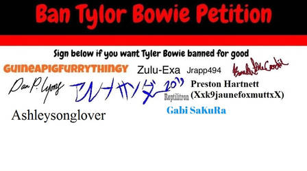 Ban Tylor Bowie Petition