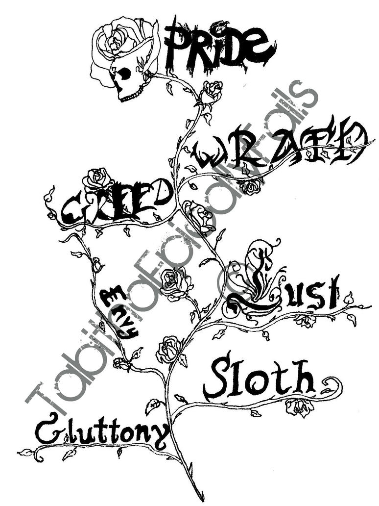 Seven deadly sins tattoo by tabithaepicallyfails on deviantart for Seven sins tattoo