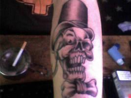 fancybritman skull tattoo