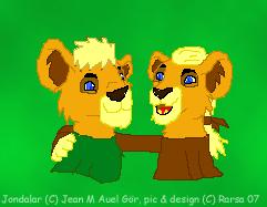 Jon and Jondalar by rarsa