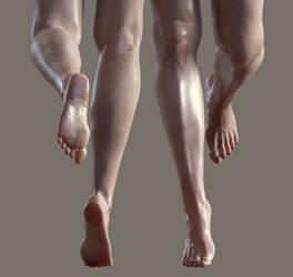 genesis 8 female feet@leg morph