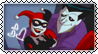 Joker and Harley Quinn Stamp by Nikieu