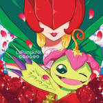 Rosemon and Palmon by LaPumpkINK
