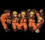Naruto, Naruto, Naruto, Naruto and Naruto Render