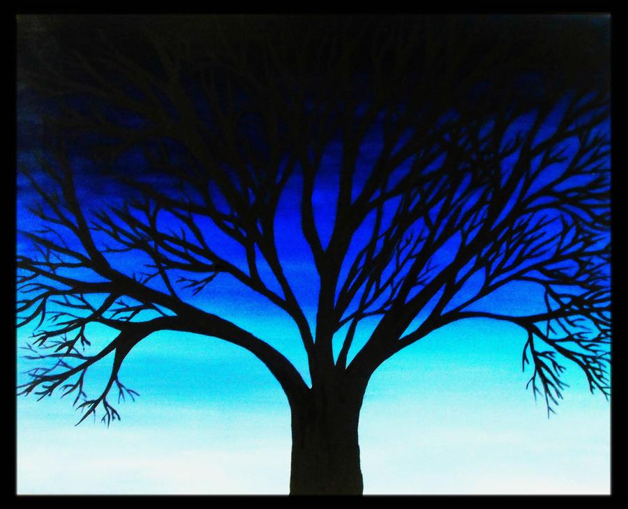 Silhouette Tree Paintings Tree Silhouette by Missperple