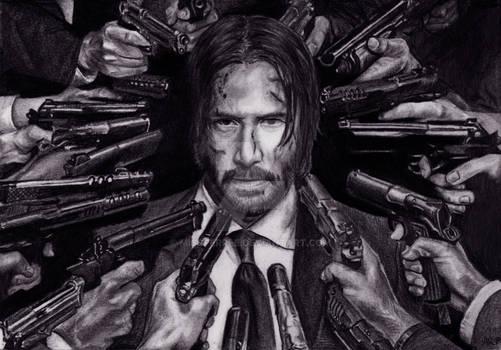 Keanu Reeves / John Wick Portrait