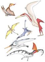 Pterosaurs by Ahrkeath
