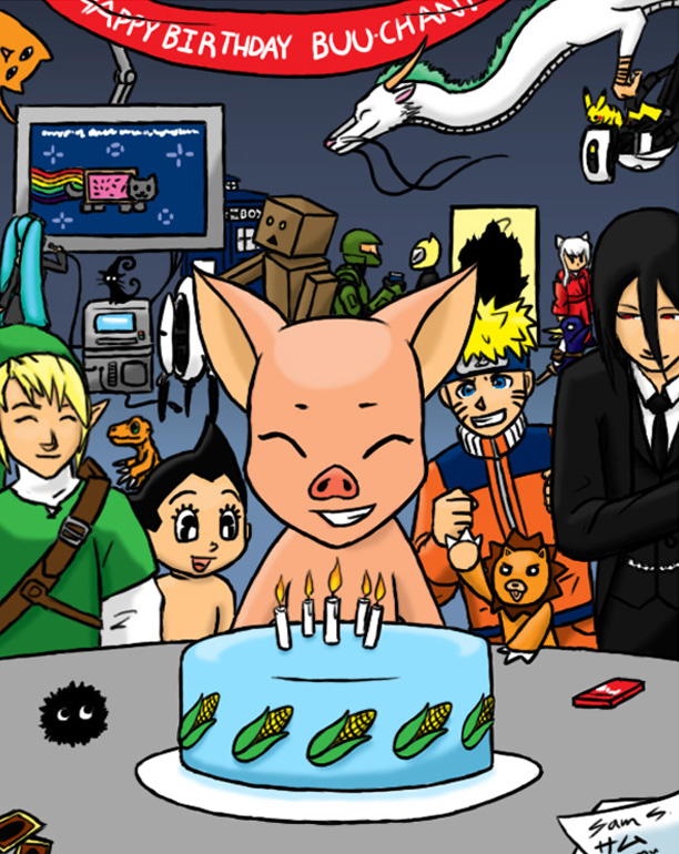 Buu-chan's B-Day Bash by Ahrkeath