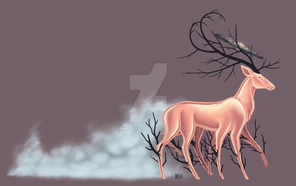 Space Deer by Ahrkeath