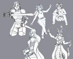 DND sketch page by jessalia