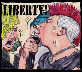 Liberty Discography Cover Color by NickBentonArt